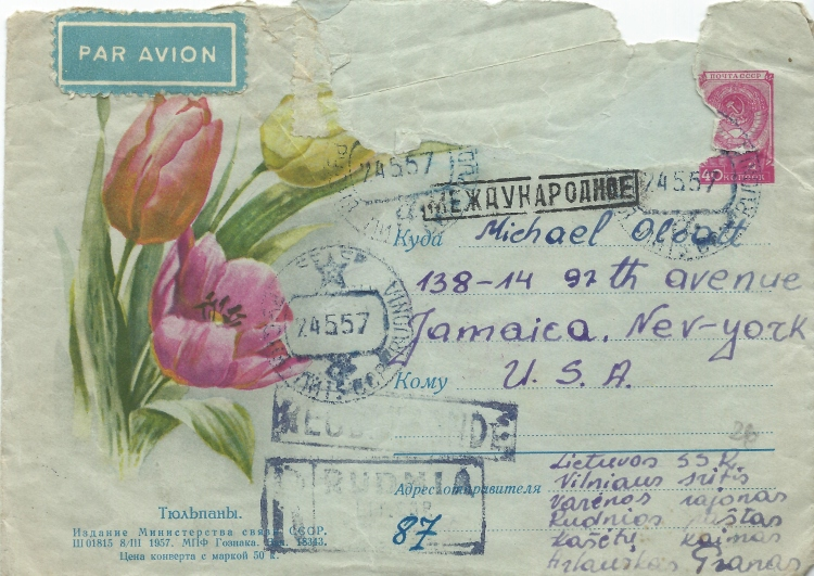 Michael Olcott Envelope June 22 1957