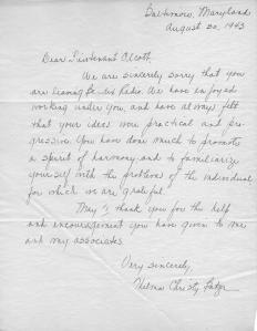 Helena Christy Batzer letter