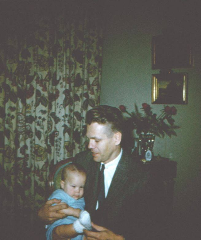 With Dad in Quebec 11-1958