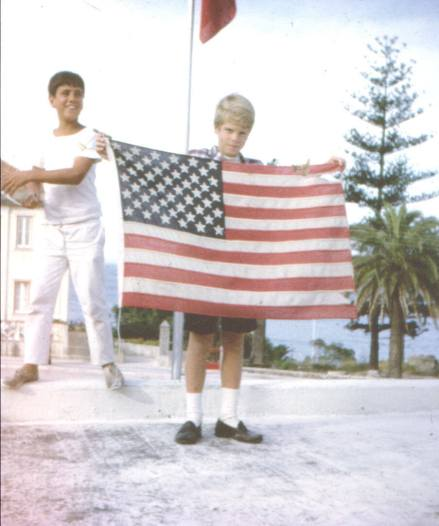Showing the flag in Portugal 1969