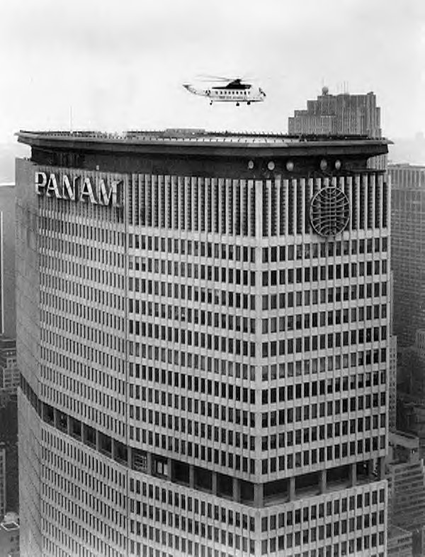Pan Am Building with helicopter