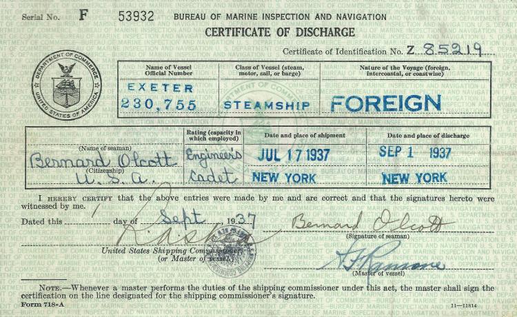 Merchant Marine Certificate