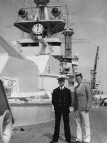 Bern and Edward with warship