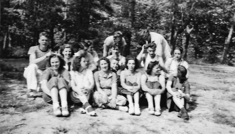 Dad on the Beach with Pals May 30 1939